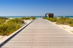 Strandpromenad till se Fotografering för Bildbyråer