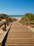 Strandpromenad till stranden Fotografering för Bildbyråer