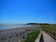 Strandpromenad till stranden, hav Arkivbild