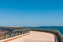 Strandpromenade stockfotos