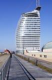 Strandpromenade bremerhaven-Duitsland Stock Foto