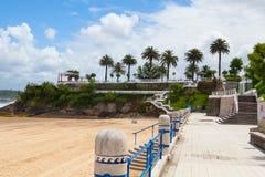 Strandpromenade EL Sardinero, Santander, Spanien stockfoto