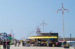 Strandpromenade von Scheveningen Stockfoto