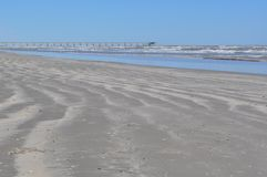 Strandrörelse Arkivfoto
