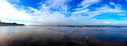 Strandreflexion Fotografering för Bildbyråer