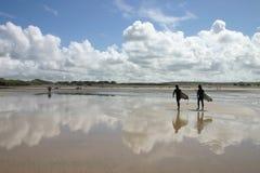 strandreflexioner Royaltyfri Foto