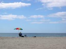 Strandregenschirm Lizenzfreie Stockbilder