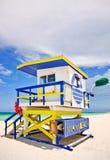Strandrettung Miami-Florida stockfotos