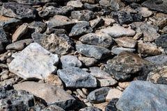 Strandrots en Stenen stock afbeelding