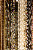 Strands of Beads and Pearls. At a Market Royalty Free Stock Photos