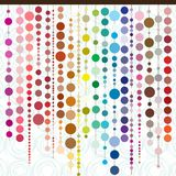 Strands of colored pearls in different shapes and colors royalty free illustration