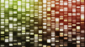 Strands of DNA falling stock footage