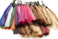 Strands of hair color Stock Images