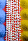 Strands of pearls stock photos