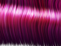 Strands of pink hair. Strands of shiny pink hair. Anime/cartoon style Royalty Free Stock Photos