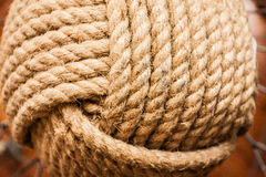 Strands of Rope in a Knot Stock Photo