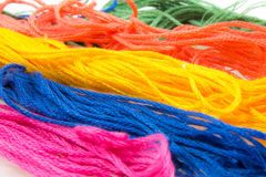 strands of soft colored cotton Stock Photos