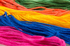 strands of soft colored cotton Royalty Free Stock Photo