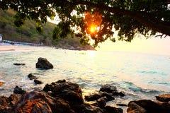 Strands Ta-Yaii himmel Fotografering för Bildbyråer