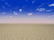 Strandsand und freier Himmel Stockbilder