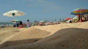 Strandsandsommer stockfoto