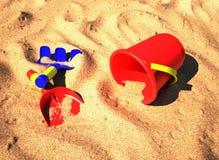strandsandtoys royaltyfri illustrationer