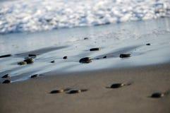 Strandsandwüste-Ozean Meereswellen Lizenzfreie Stockfotografie