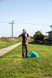 Strandsatt flykting i Tovarnik Arkivbild