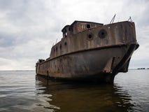 Strandsatt konkret skepp Royaltyfri Foto