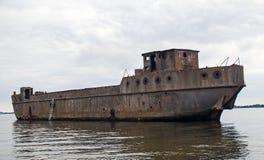 Strandsatt konkret skepp Royaltyfri Fotografi
