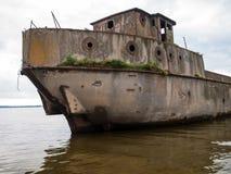 Strandsatt konkret skepp Arkivfoton