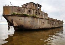 Strandsatt konkret skepp Royaltyfri Bild