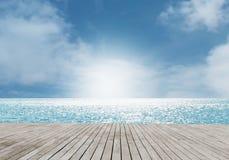 Strandscène Stock Afbeelding