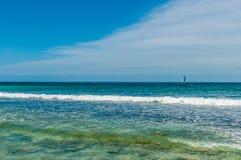 Strandscène bij Playa del Carmen, Mexico Stock Fotografie