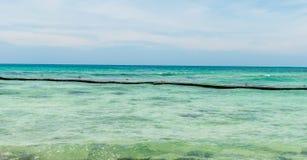Strandscène bij Playa del Carmen, Quintana Roo Royalty-vrije Stock Foto's