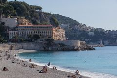 Strandscène op Riviera Royalty-vrije Stock Afbeelding