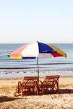 Strandschirm Lizenzfreies Stockbild