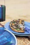 Strandschnecken auf Toast lizenzfreie stockfotografie
