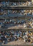 Strandschritte und -kiesel lizenzfreie stockbilder