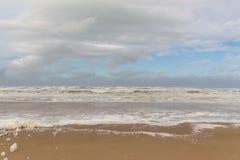 Strandschuim 2 Egmond aan Zee, Nederland royalty-vrije stock afbeelding