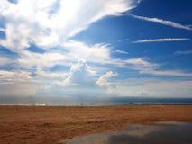 Strandseeansicht stockfotografie