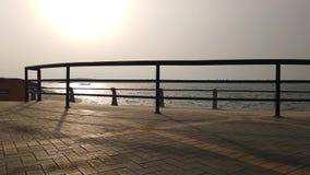 Strandseite, wenn Zeit geglättet wird stock footage