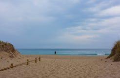 Strandseiteneingang Stockfotografie
