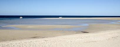 Strandseitenseelandschaft Stockfoto
