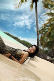 strandsemester Arkivfoton