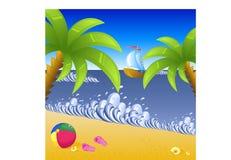 strandsemester vektor illustrationer
