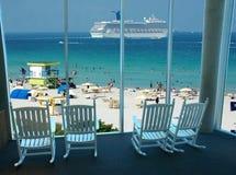 strandsemesterort royaltyfri fotografi