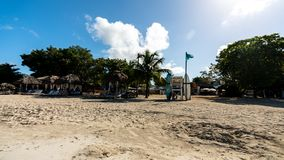 Strandsemesterort Negril Jamaica arkivbilder