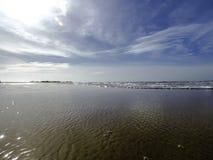 Strandsida i Kalpitiya, Sri Lanka Arkivfoto