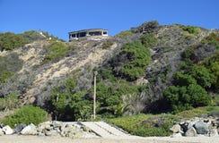 Strandsidan returnerar på Dana Strand Beach i Dana Point, Kalifornien Royaltyfria Bilder